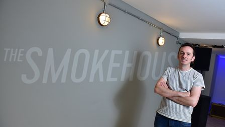 The Smokehouse, Ipswich's newest music venue at South Street Studios. Joe Bailey at the venue.