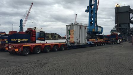 A previous abnormal load making its way through Suffolk. Picture: CONTRIBUTED