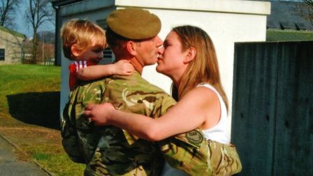Mandy and Chris Small with their son Jamie. Picture: FAMILY