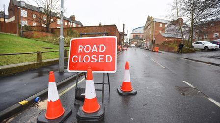 Bramford Road pictured earlier this year during its closure. Picture: GREGG BROWN