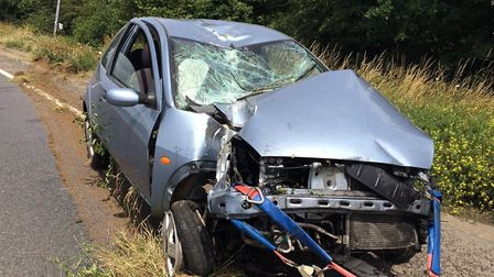 The scene of an accident last year on the A134, when luckily, nobody was seriously injured