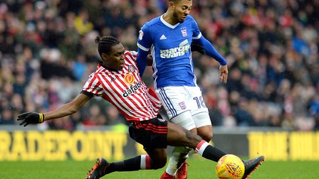 Grant Ward is fouled during the first half at Sunderland Picture Pagepix
