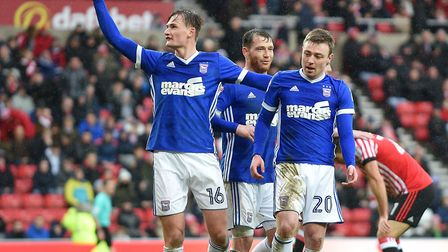 Ipswich celebrate the second goal at Sunderland. Picture Pagepix