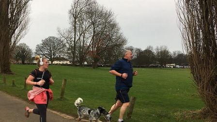 One man and his dog: canine participants were welcome at last Saturday's Kettering parkrun. Picture: