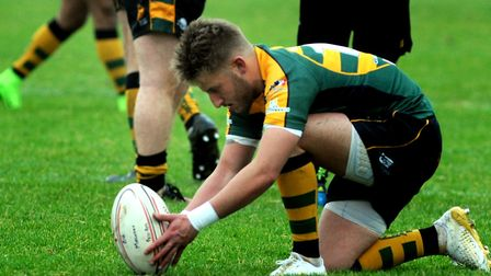 Fraser Honey, in good kicking form at Taunton for the Wolfpack