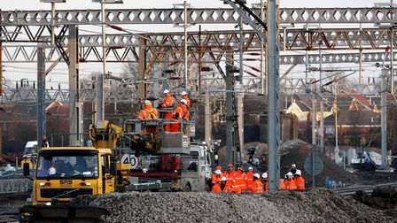 Over-running engineering works have caused delays to rail service (stock image) Picture: DAVID JONES