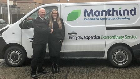 Monthind partner Simon Biggs with Lydia Plews from Havens Hospices