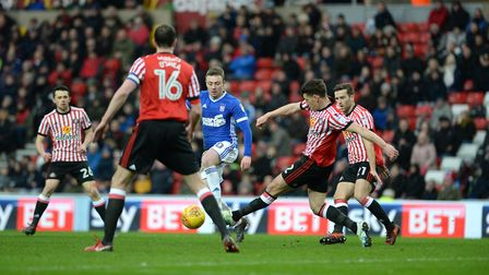 Freddie Sears on the prowl amidst the Sunderland defence Picture Pagepix