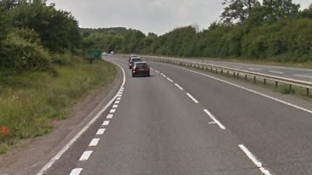 The A14 is one of the roads in the county for work this week. Picture: GOOGLE MAPS