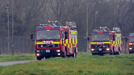 Fire crews were called to the scene. File picture: PHIL MORLEY