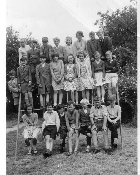 Some of the pupils at Great Barton Primary School in 1964.