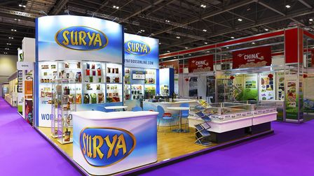 Harwich-based Surya Foods is steppiing up its presence at trade exhibitions around the world. Pictu