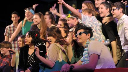 Pupils from Farlingaye High School during a dress rehearsal this week. Picture: SARAH LUCY BROWN