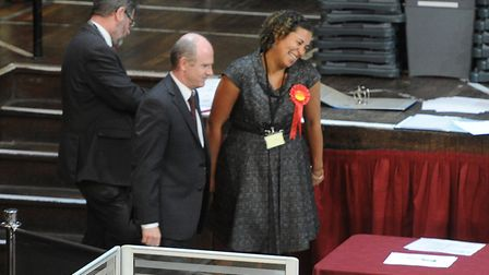 Local election results. Ipswich Shelly Darwin and Neil Macdonald of Labour St John's ward