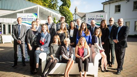 Sponsors of this year's Suffolk Coastal Business and Community Awards. Picture: SIMON BALLARD