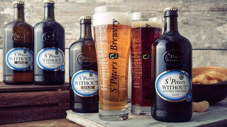The Without Original and Gold alcohol-free beers from St Peter's Brewery in Bungay, as the brewery r