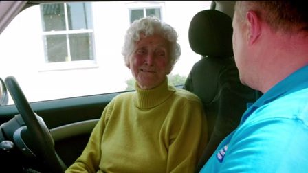 Norfolk's Eileen Ash featured on ITV show 100-Year-Old Driving School in September. Photo: ITV.