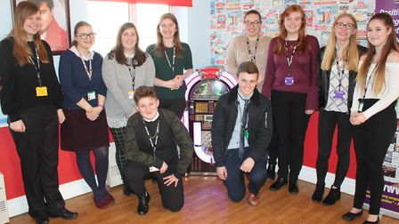 A group of students at Thomas Gainsborough School have trained to befriend people with dementia at c