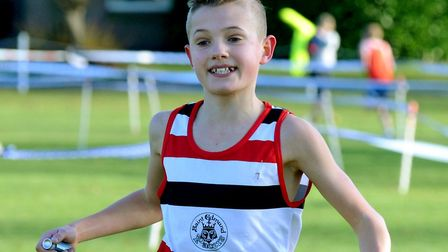 Lewis Sullivan, who won the junior boys' race at the Anglian Schools event at RHS, to help Suffolk t