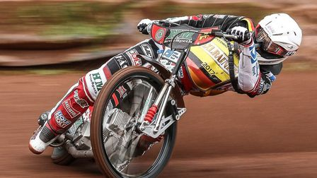 Witches new signing Michael Haertel in flying action. The German has joined the Witches for 2018. Ph