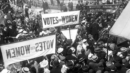 Suffragettes gathering to protest in London c.1910 - There would be another eight years of the strug