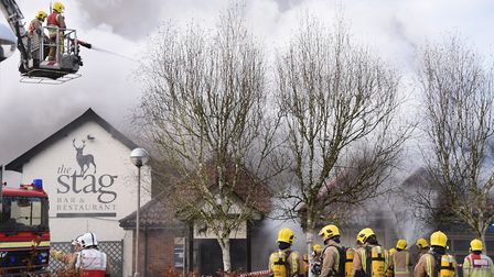 More than 60 firefighters tackled the blaze at Breckland Lodge, Attleborough. Picture: DENISE BRADLE