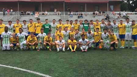 AFC Sudbury youngsters in the USA playing against American football teams and experiencing a differe