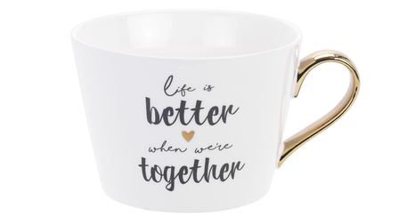 Undated Handout Photo of Serve Up Love On A Plate Life Is Better When We're Together Mug, £4.50, Sa