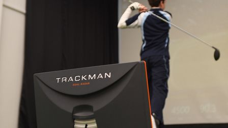 TrackMan. A �20,000 investment at Culford's golf programme. Photos: GREGG BROWN