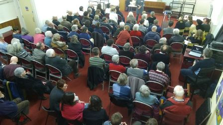 A large audience turned out for the documentary screening. Picture: TRANSITION WOODBRIDGE
