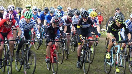 The Vets 50+ start at Milton. (L-R) front row: Paul Watson, Clive Harrison, Richard Muchmore, Andrew
