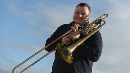 Trombone player Simon Minshall. Picture: SARAH LUCY BROWN