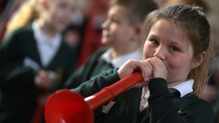 Some of the pupils playing the clarinet. Picture: SARAH LUCY BROWN
