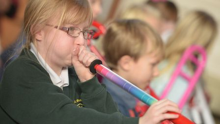 Hundreds of children took part in a classical music event at the Royal Hospital School. Picture: SA