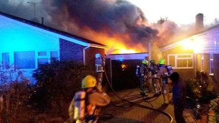 Firefighters were called to a bungalow fire in Great Chesterford near Saffron Walden. Picture: ESSEX