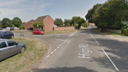 Stock image of High Road, at the St Martins Green junction, in Trimley St Martin, Suffolk. Picture: