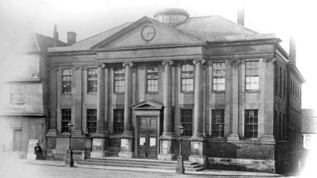 This was the Ipswich Town Hall from 1841 to 1865. It had been converted from the remains of St Mildr