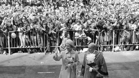 The Queen visited Ipswich in 1977 as part of her Silver Jubilee tour of the nation. Crowds cheered f