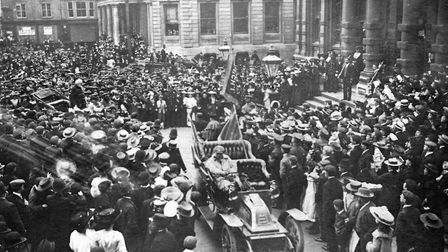 July 1909 saw huge crowds gather in front of the town hall for the arrival of General William Booth,