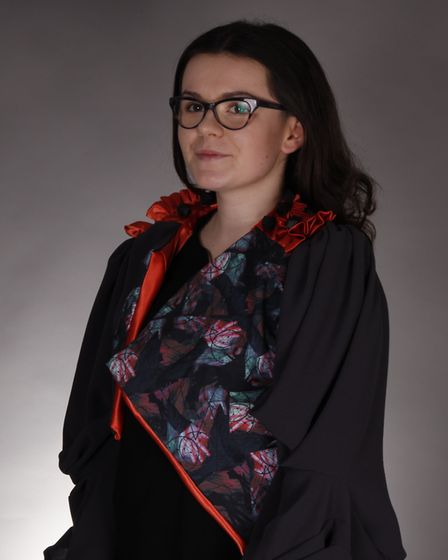 Yasmin Backhouse with her jacket. Picture: WEST SUFFOLK COLLEGE