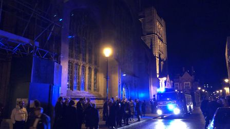Bury St Edmunds Cathedral evacuated ahead of Norfolk and Suffolk Tourism Awards. Picture: ARCHANT