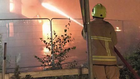 File picture of an Essex firefighter tackling a blaze. Picture: ESSEX COUNTY FIRE AND RESCUE SERVICE