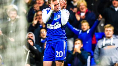 Freddie Sears celebrates his goal after a long drought back in 2016. Picture: STEVE WALLER