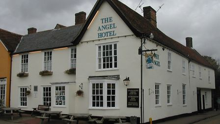 First use Mercury. The Angel, in the Market Place, Lavenham. Pic by Will Wright. 03/11/03