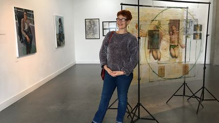 Annabel Mednick at the Beneath The Skin exhibition. Photo: Andrew Clarke