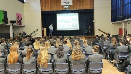 Peter Osborne from TA Hotel Collection spoke to students at Alde Valley Academy about a career in ho