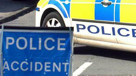 Police are on the scene of a single vehicle collision on the A14 at Coddenham. Picture ARCHANT