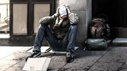 Man homeless abandoned in the street. Picture: GETTY IMAGES/ISTOCKPHOTO