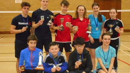 Honours all: Top row from left to right - Max Elvin, Theo Broom, Oliver Pearmain, Hannah Pamplin, Be
