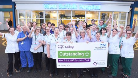 West Suffolk Hospital has received an 'outstanding' rating from the CQC. Picture: GREGG BROWN